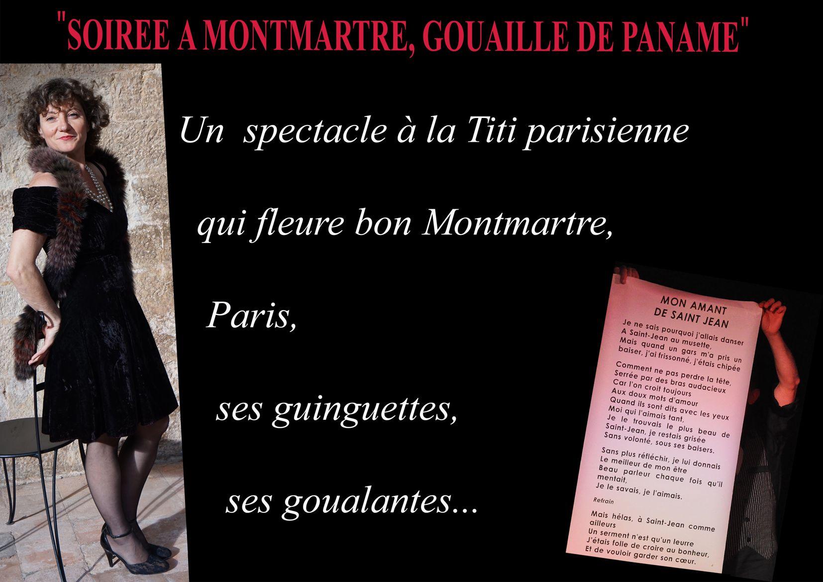 SOIREE MONTMARTRE, GOUAILLE DE PANAME par Angelique Dessaint