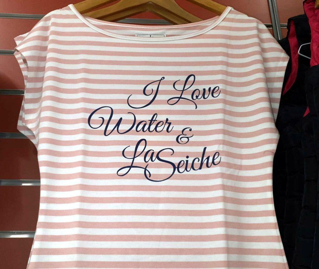 I love water - vêtement - la Seiche - boutique nautique Sevrier