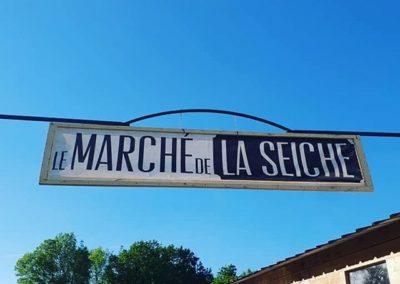 le marché de la Seiche-Sevrier-Annecy été 2019 - panneau