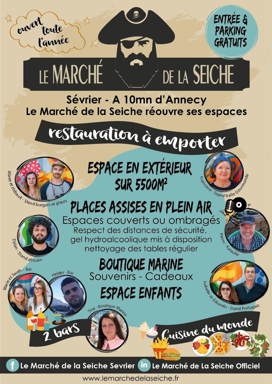 Marché de la Seiche - Sevrier - réouverture