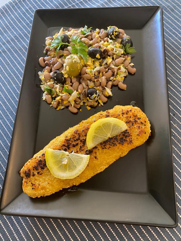 Flageolet et poissons panné -Saveurs de chez nous - Marché de la Seiche