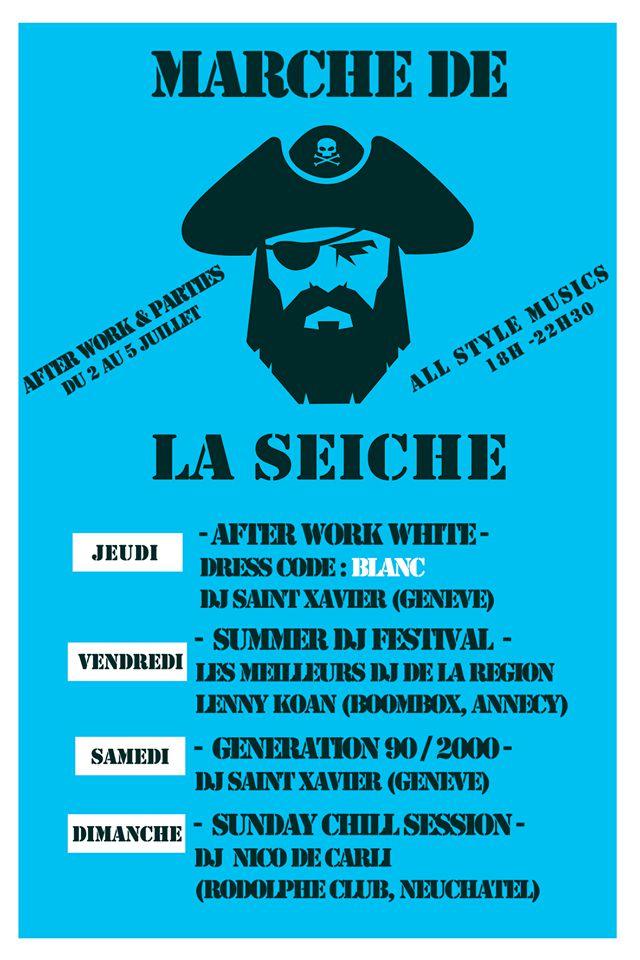 After work parties - DJ's All style, marché de la Seiche, Sevrier