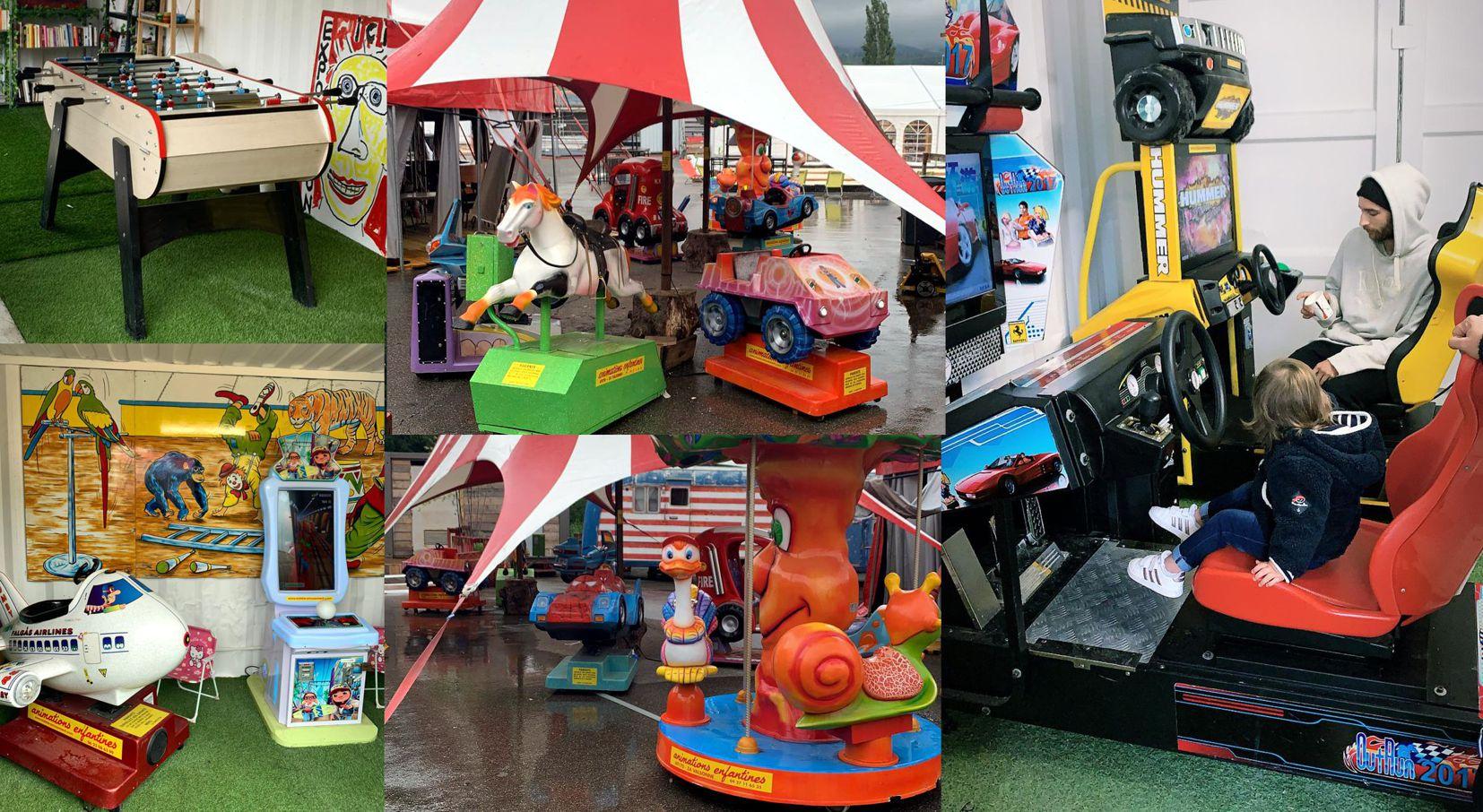 baby foot-arcade-manège-marché de la seiche - Annecy Sevrier