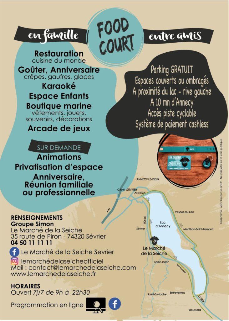 Marché de la Seiche - lac annecy - sevrier -restaurant-loisirs