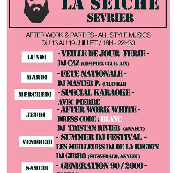 After work parties – DJ's All style – Fête nationale