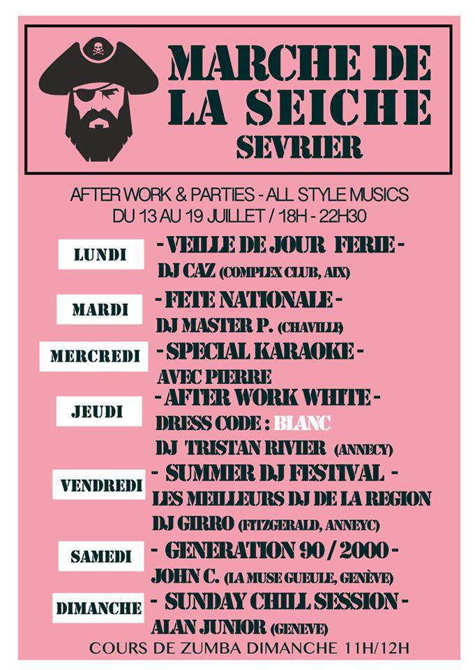 After work parties - DJ's All style, 13 au 19 juillet - marché de la Seiche, Sevrier