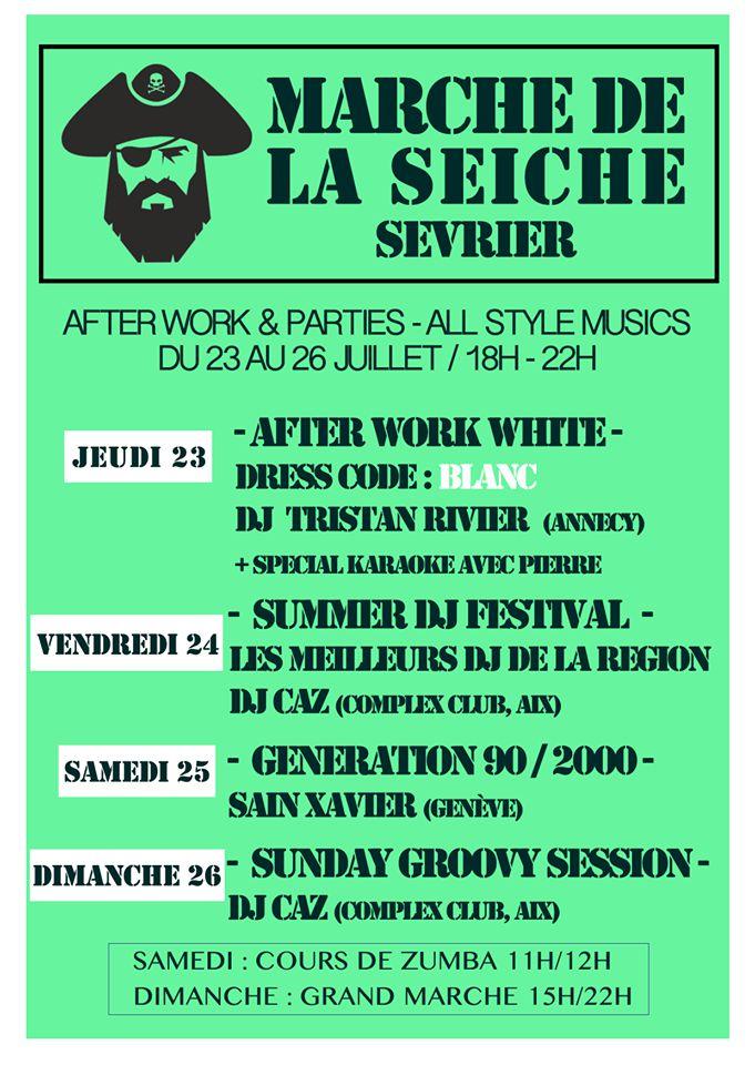 After work parties - DJ's All style, 23 au 26 juillet - marché de la Seiche, Sevrier
