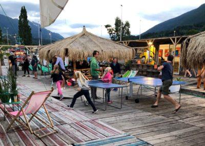 Pign-pong - terrasse du marché de la Seiche, Sevrier Annecy