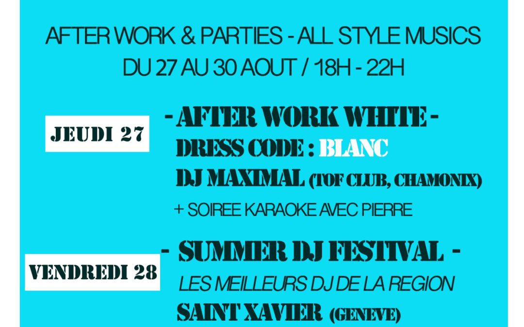 After work parties – DJ's All style
