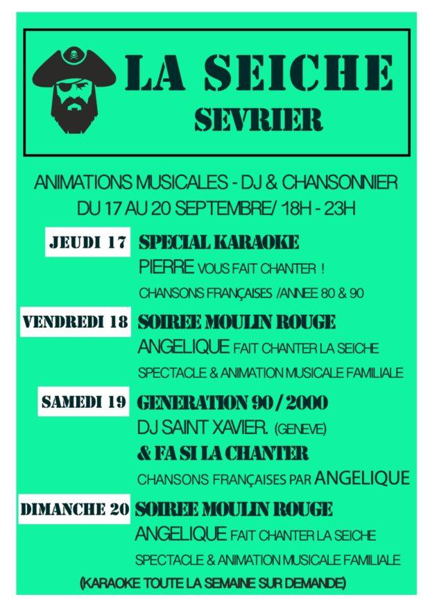 Animations musicales - jeudi 17 au dimanche 20 septembre - marché de la Seiche, Sevrier