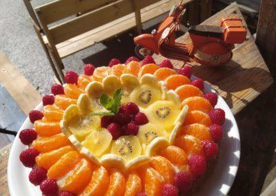 Gâteau d'anniversaire par Francesca - Italie gourmande, marché de la seiche, sevrier