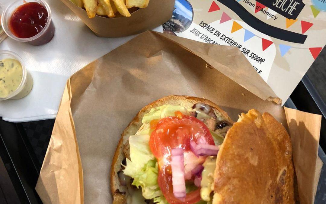 Livraison et à l'emporter – burgers frites & boissons – région Annecy