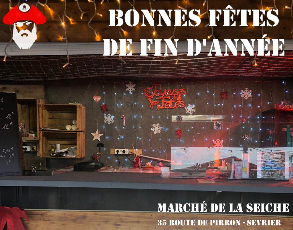 Bonnes fêtes de fin d'année La seiche - Sévrier - Annecy - décembre 2020