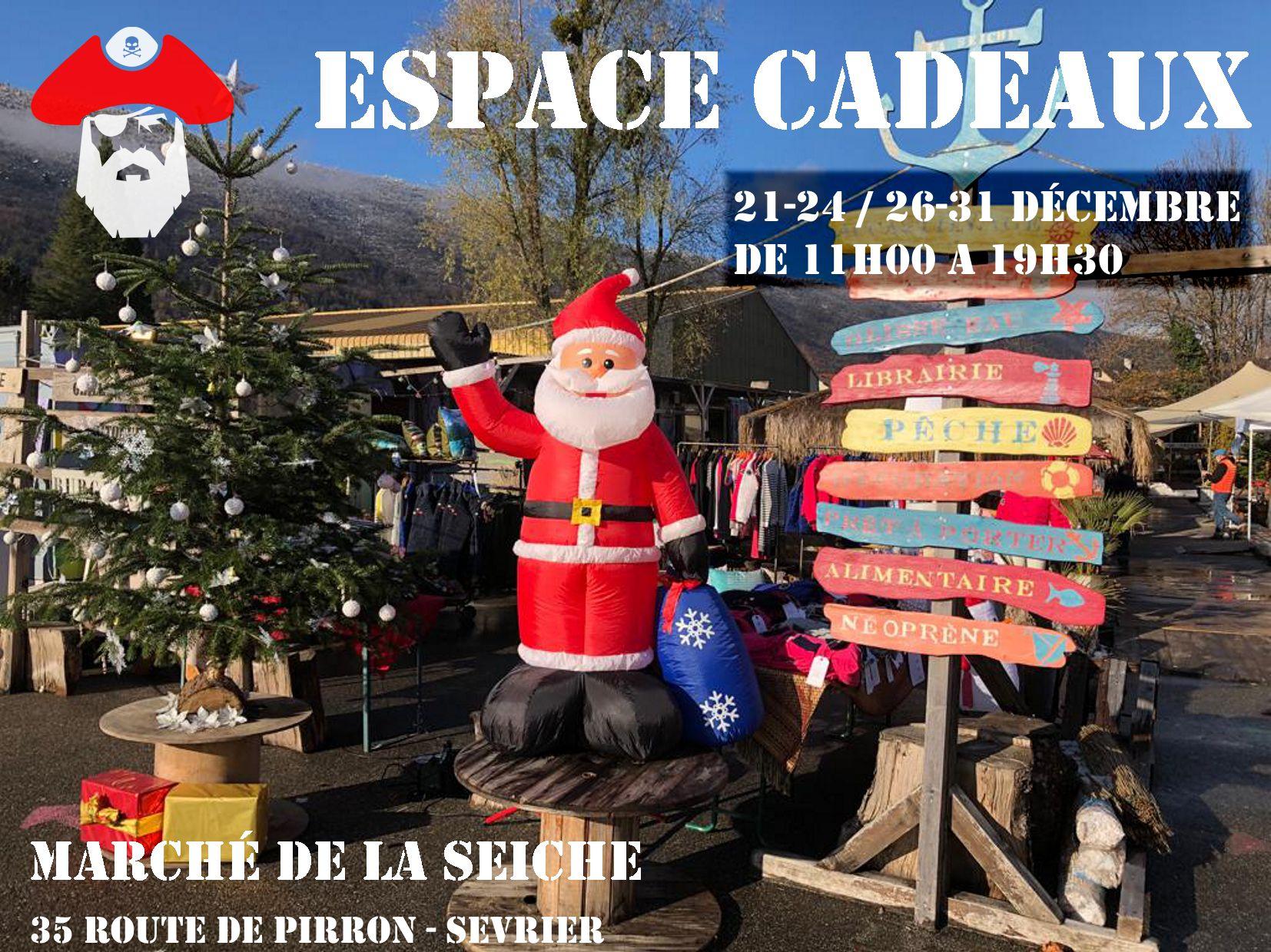 Espace cadeaux au marché de la Seiche - Sevrier - Lac d'Annecy - décembre 2020
