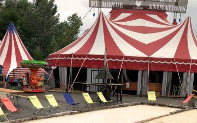 Chapiteau de cirque de 14 x 18 m à vendre – 18'000€