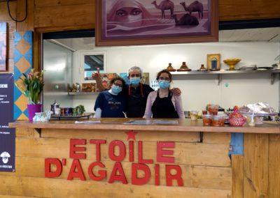 Equipe de l'Étoile d'Agadir - cuisine orientale. marché de la Seiche, Sevrier