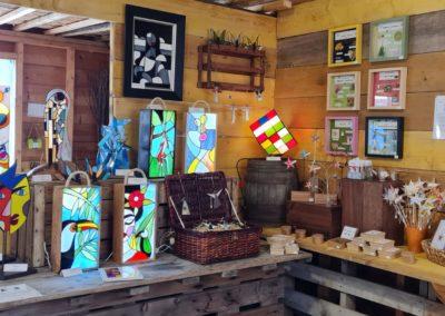 L'Atelier des Créateurs, artisanat au marché de la Seiche à Sevrier, lac d'Annecy