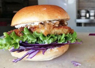 Le veggie burger - par LE MONT BURGER, marché de la Seiche, Sevrier