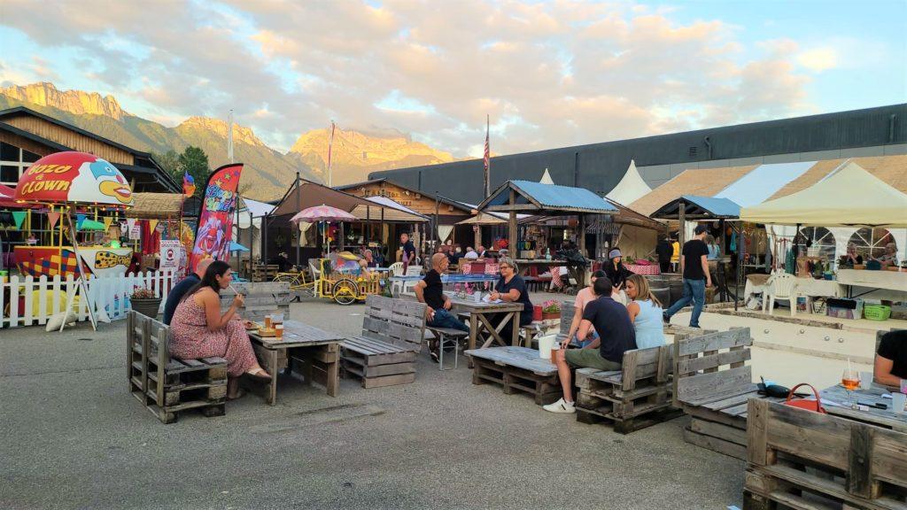 Marché de la Seiche, terrasse, bar, restaurant, loisirs à, Sevrier, lac d'Annecy (74)