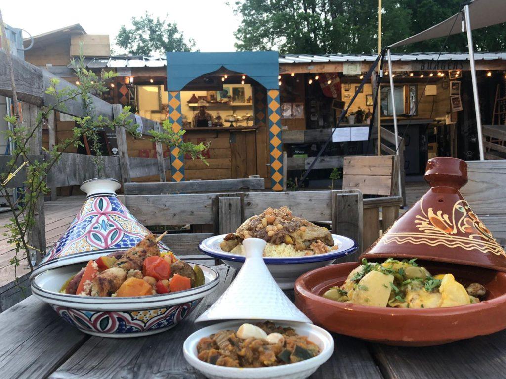 Couscous royal, Tajine poulet citron confit, pommes de terre et olives, Couscous agneau. Étoile d'Agadir. La Seiche, Sevrier