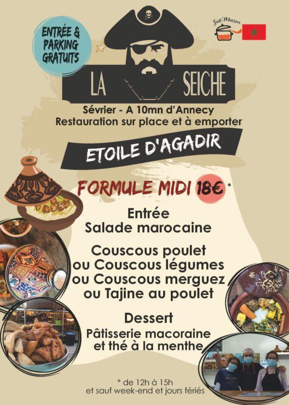 Menu-Etoile d'Agadir, midi - marché de la Seiche, Sevrier