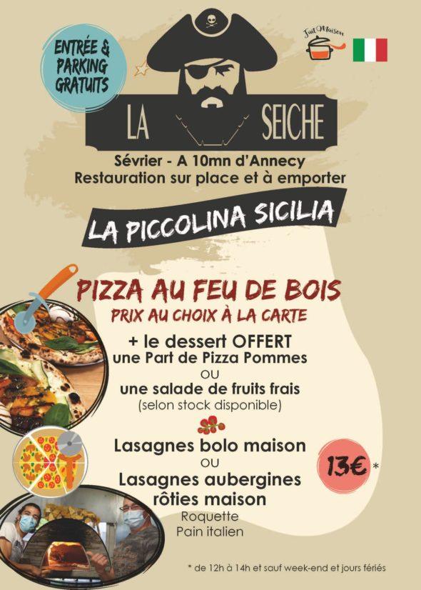 Menu-Italie-La Piccolina, midi - marché de la Seiche, Sevrier