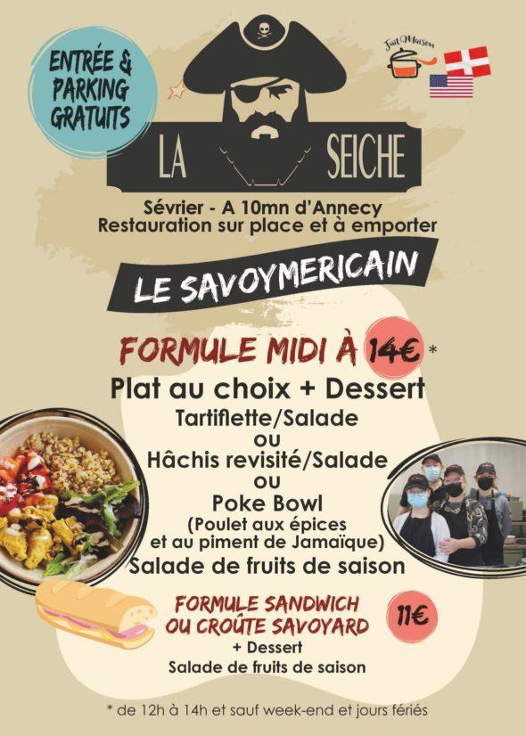 Menu-Le Savoymericain, midi - marché de la Seiche, Sevrier