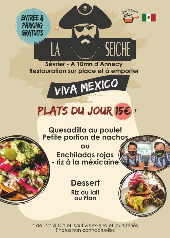 Menu-Viva Mexico, midi - marché de la Seiche, Sevrier