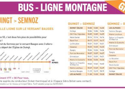 Mobilité douce à La Seiche - Sevrier - Horaires Bus Ligne montage S5