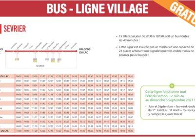 Mobilité douce à La Seiche - Sevrier Horaires Bus Ligne village V1