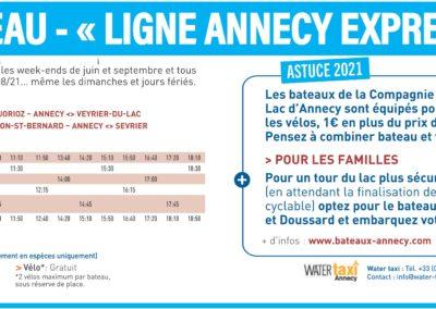 Mobilités-La Seiche Sevrier - Ligne bateau Annecy Express