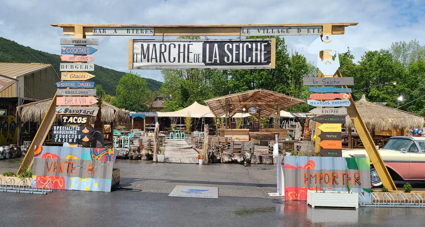 Bar, restaurant, loisir, artisanat, Marché de la Seiche, Sevrier, Lac d'Annecy