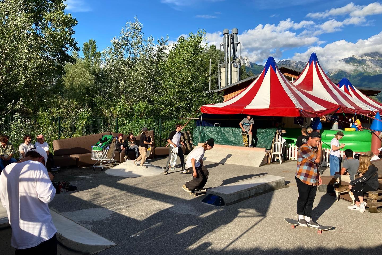 Skatepark du marché de la Seiche à Sevrier - Lac d'Annecy
