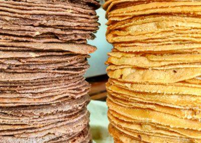 Galette de maïs faites maison par Viva Mexico. cuisine mexicaine - Le Marché de la Seiche, Lac Annecy, Sevrier