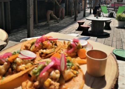 Tacos poulet par Viva Mexico - stand-restaurant au Marché de la Seiche, Lac Annecy, Sevrier