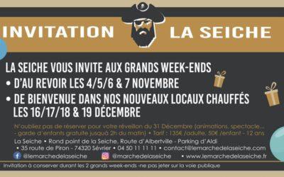 Invitation au week-ends de fête de la Seiche
